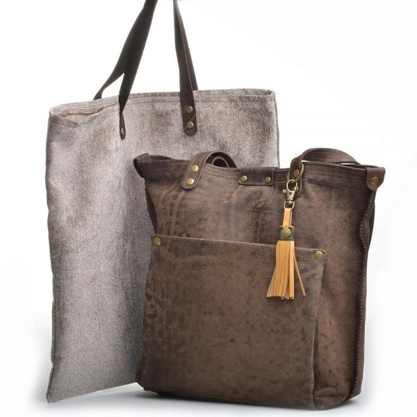 leather bag with dust bag