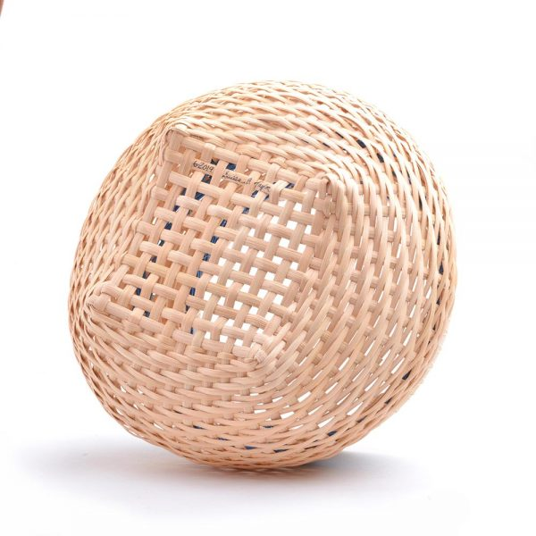 bottom view of handmade basket