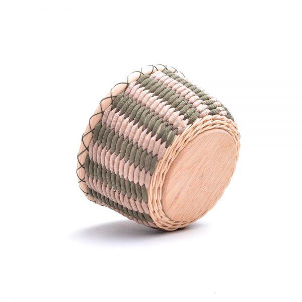 paracord woven basket bowl