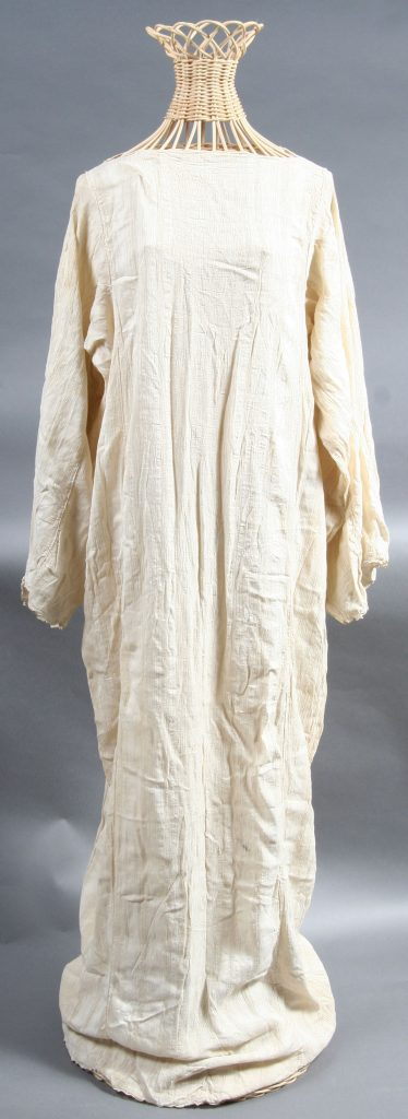 Silk Robe, 1897, silk, hand woven, hand sewn. Gift of Frances Goodrich.