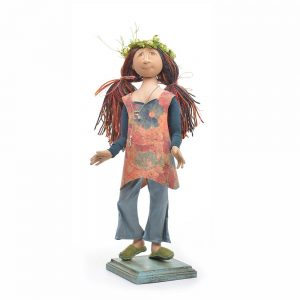 handmade hippy doll, handmade cloth doll, nc dollmaker, john c campbell doll