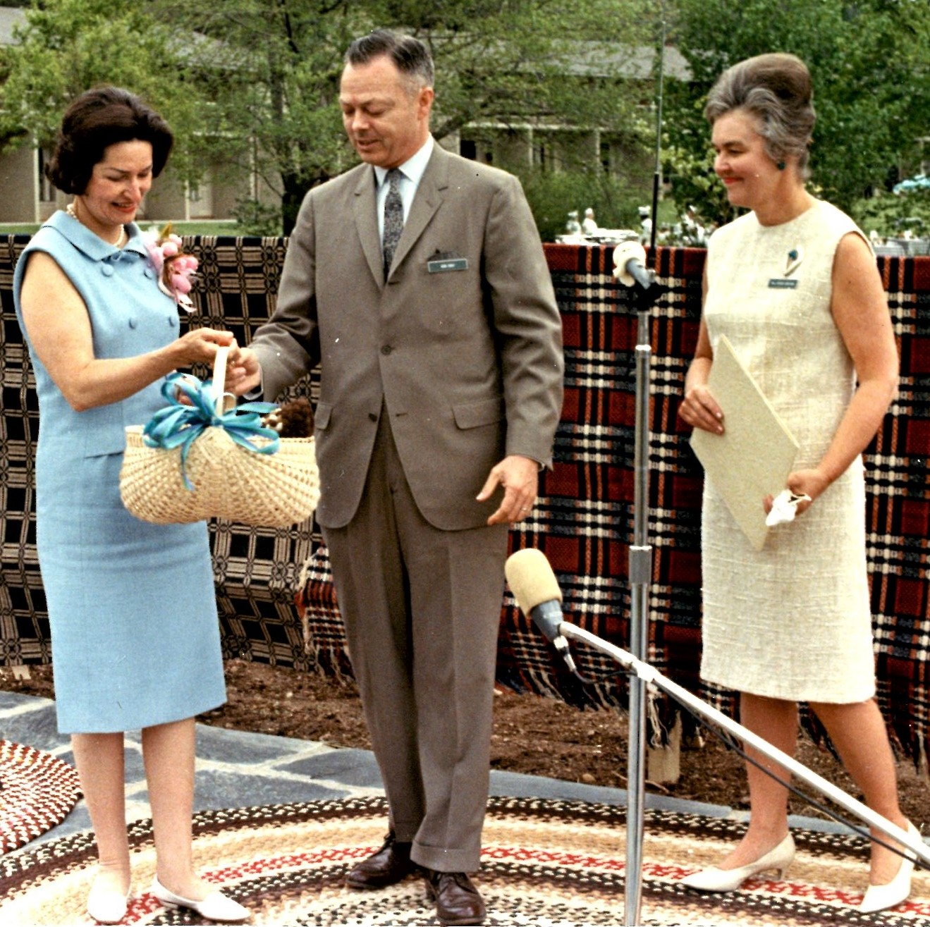 Ladybird Johnson, Guild Executive Director Bob Gray and Board President Persis Grayson representing the SHCG in Washington: 1965