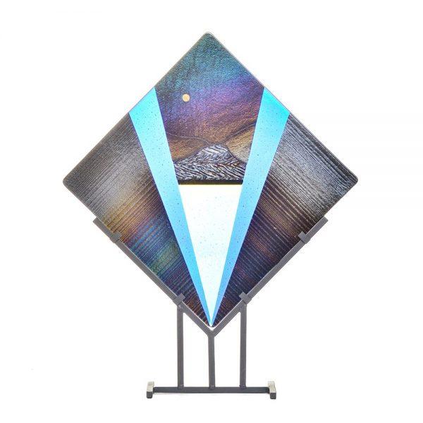 landscape fused glass, fused glass art