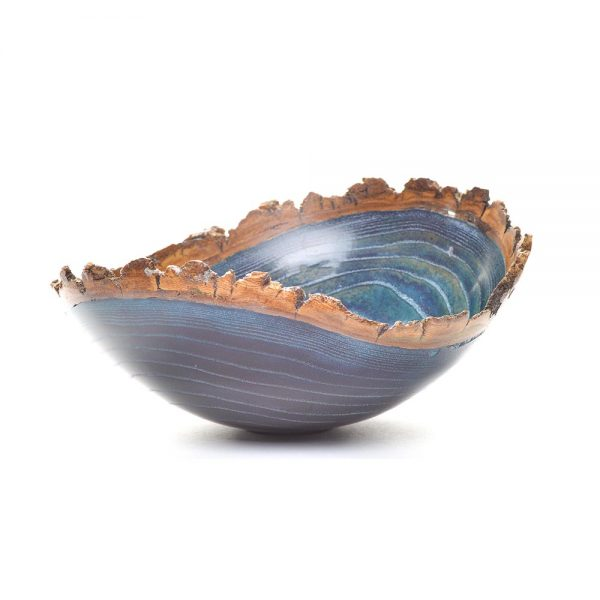 blue bark edge bowl