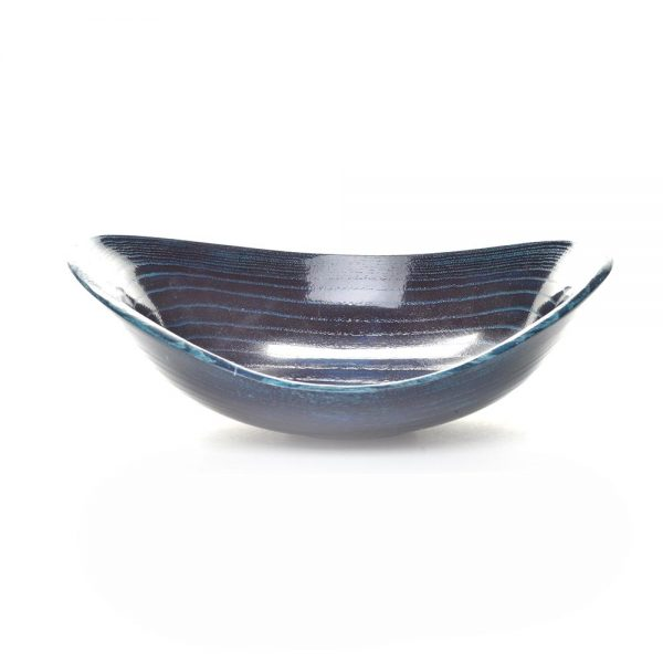 blue dyed ash bowl, american woodturner, folk art center