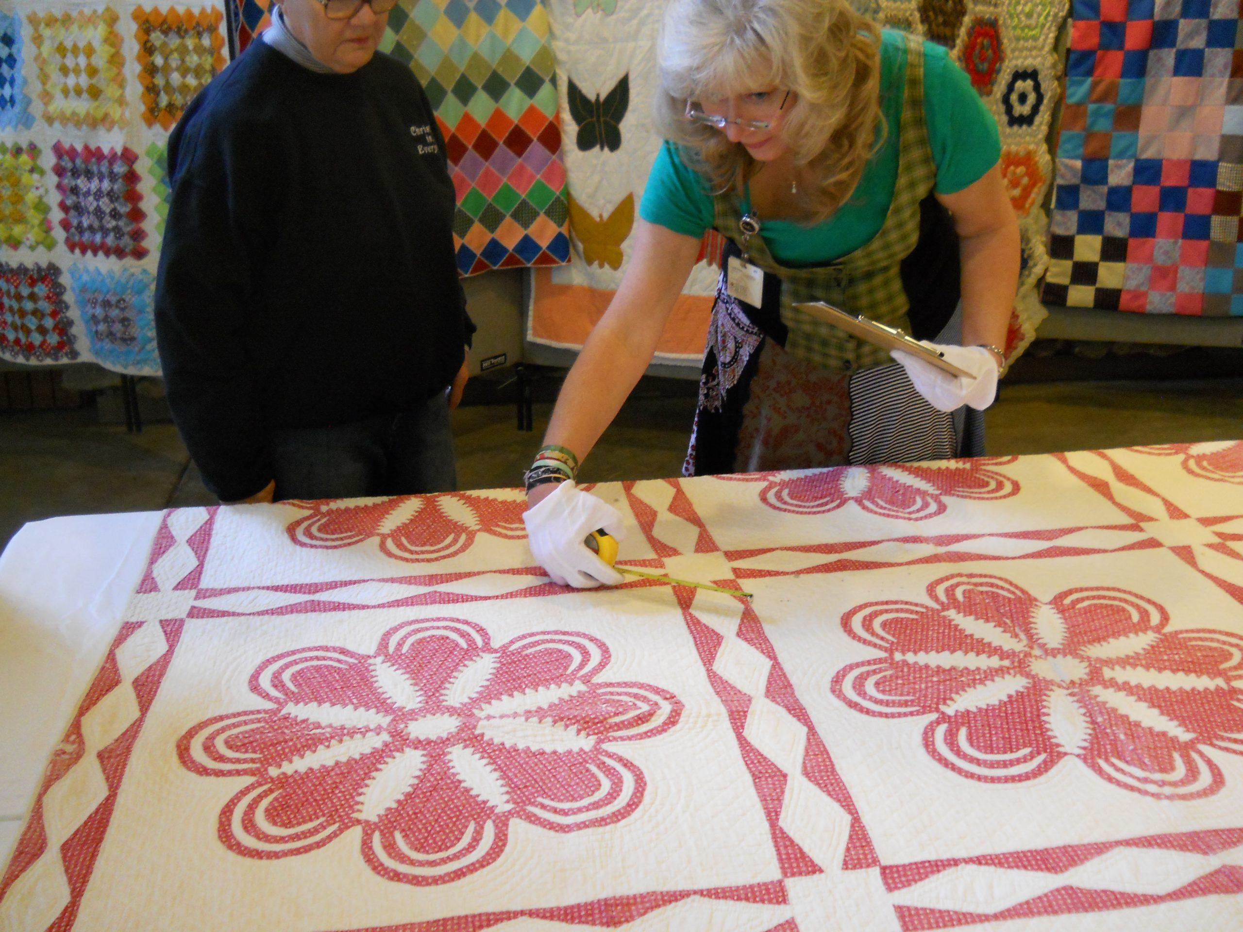 Measuring parts of a quilt