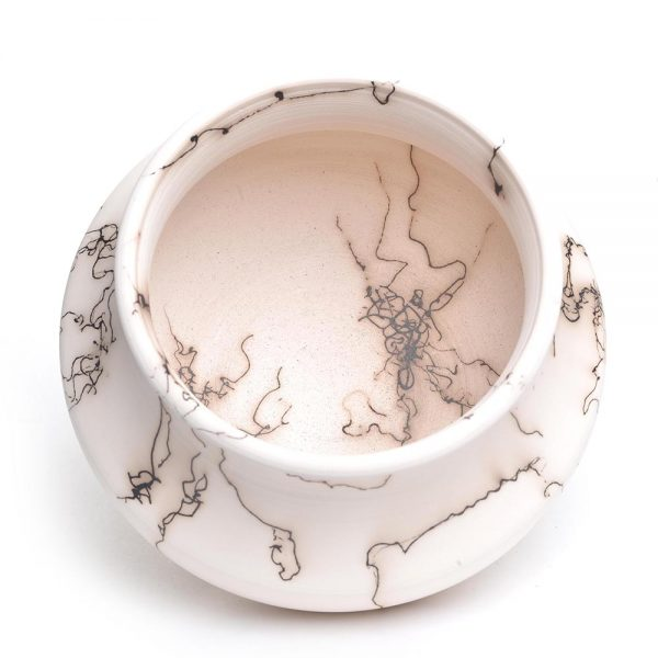 horse hair pottery, nc horse hair, raku pottery, folk art center