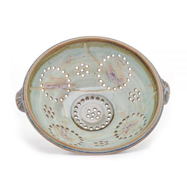 handmade ceramic berry bowl, unique fruit bowl, large ceramic collander