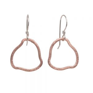 rose gold hoops, elegant handmade earrings, nc jeweler