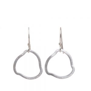 silver handmade hoop earrings, elegant handmade jewelry, folk art center