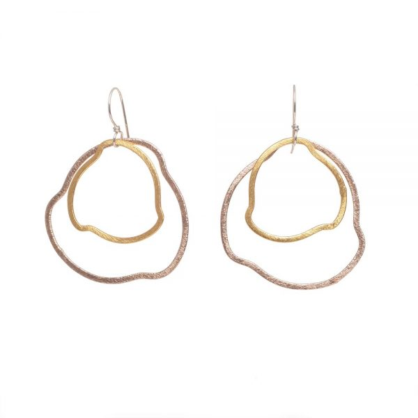 mixed metal earrings, weaverville nc jeweler, nc jeweler, wholesale jewelry