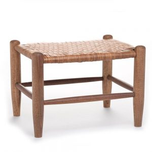 handmade footstool, turned and caned footstool, tennessee woodworker, tn woodturner,