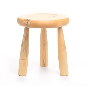 light colored 3 legged stool, tn woodworker,