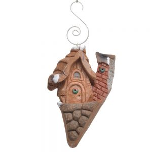 unique wood carving cottage ornament, fairy home carving, int'l wood carvers congress,