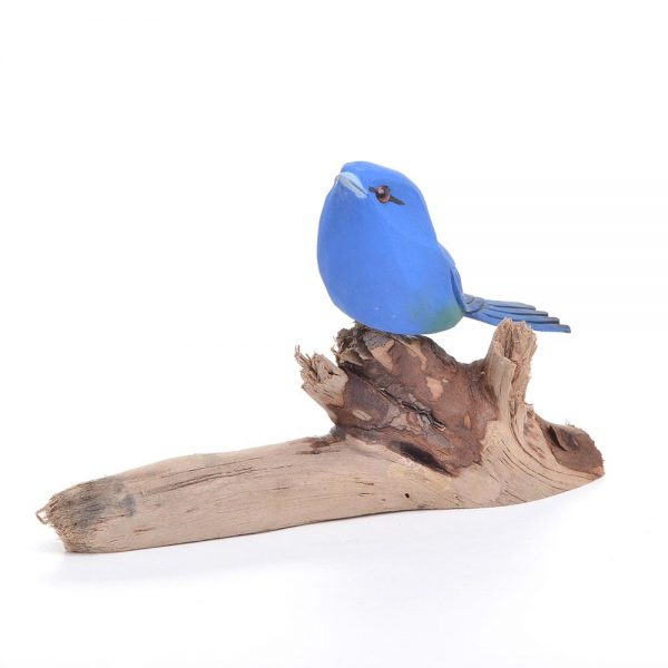 carved indigo bunting