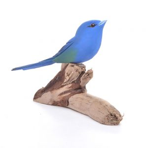 indigo bunting, carved indigo bunching, bluebird, birdwatching gift,
