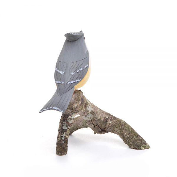 carved tufted titmouse