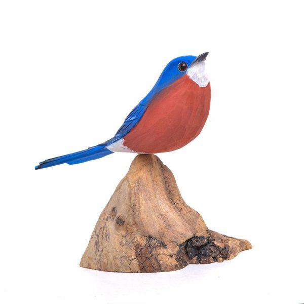 bluebird carving, nc state bird, nc woodcarver,
