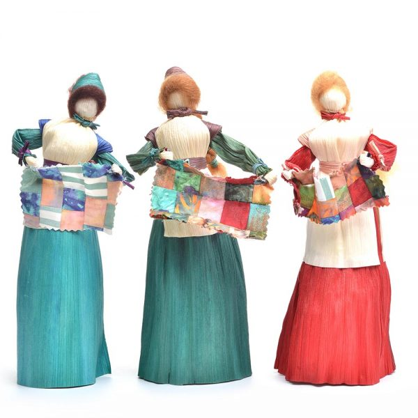 quilter corn shuck doll, traditional crafts, mountain heritage crafts