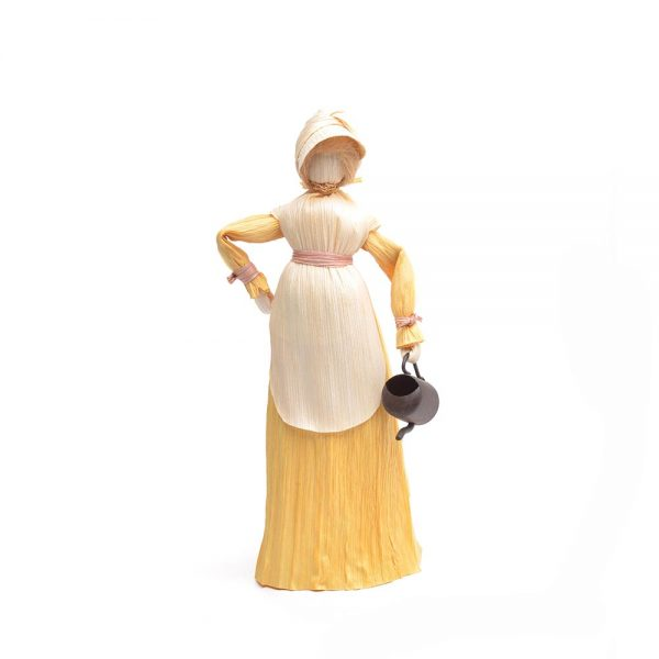yellow corn shuck doll,