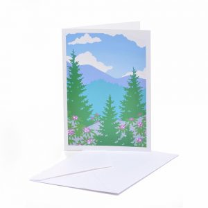 southern appalachia notecard, rhododendron notecards