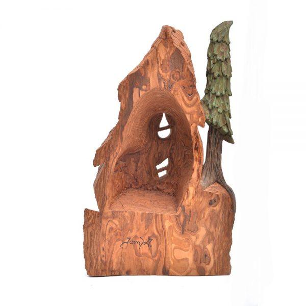 cottonwood bark carving