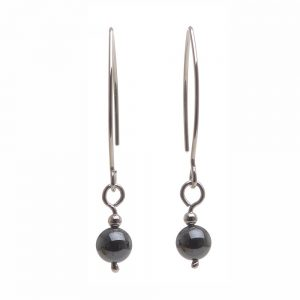 simple handmade earrings, hematite earrings, affordable handmade earrings, nc jeweler