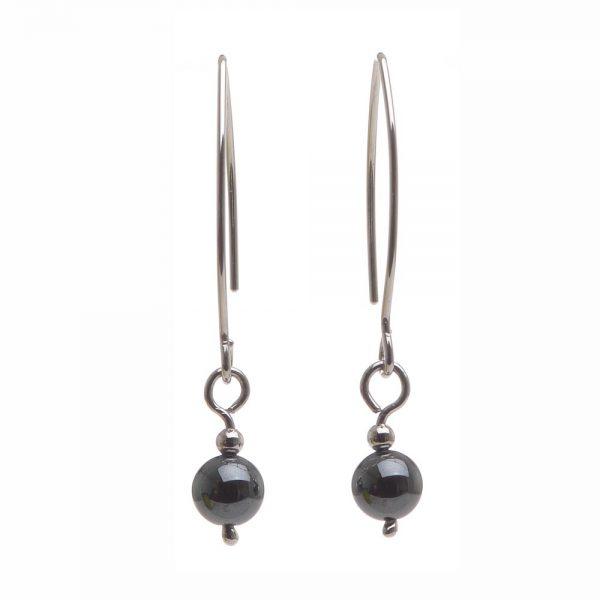 simple handmade earrings, hematite earrings, affordable handmade earrings, nc jeweler