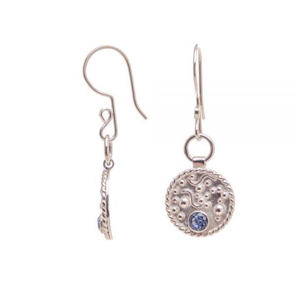 granulation earrings, silver delicate earrings, teen earrings