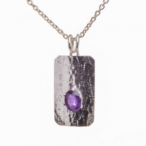 amethyst handmade necklace, nc jeweler, nc jeweler, joe rhodes