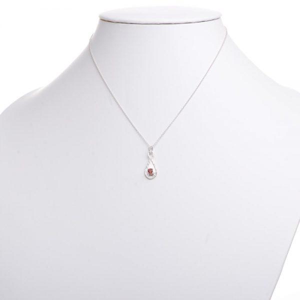 handmade garnet necklace,