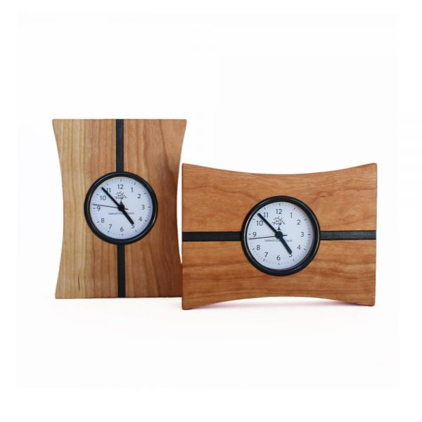 small mantle clock, handmade wooden tabletop clock