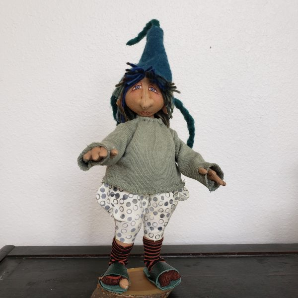handmade gnome doll, john c campbell folk school, traditional crafts, handmade gnome