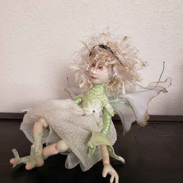 pixie handmade fabric doll