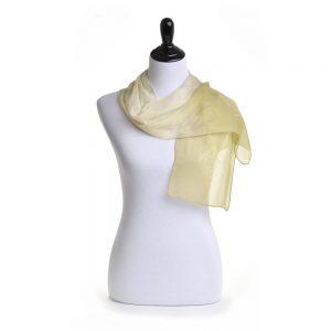 pale sheer scar, hand dyed indigo scarf