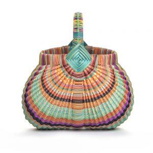 colorful handmade basket, billie ruth sudduth,