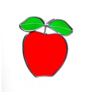 apple suncatcher, teacher gift, an apple a day
