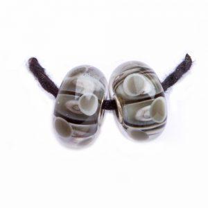 gray glass earrings beads