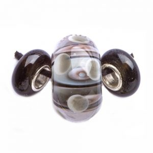 gray and glass handmade glass beads, lampworked glass beads, tn glass beads