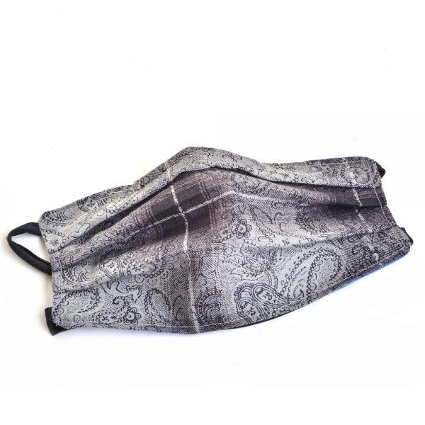 gray handmade cotton face mask