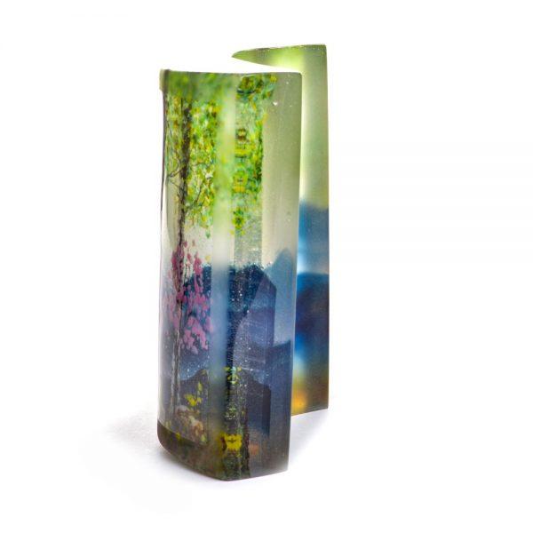 mountain glass landscape
