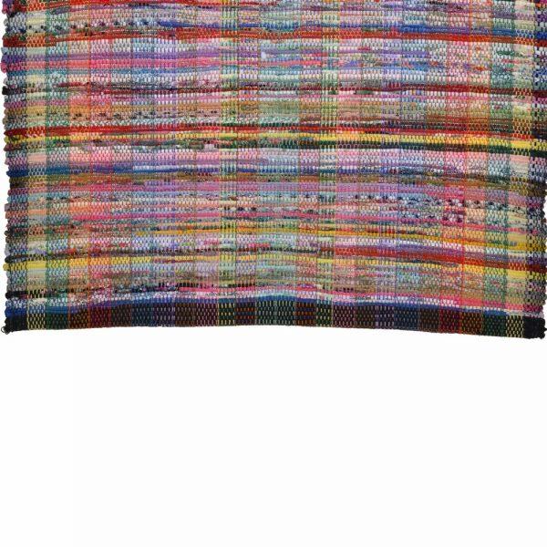 handmade rag rug, colorful rag rug