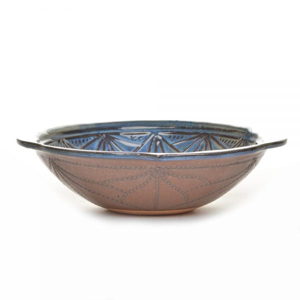 mountain serving bowl, gift for the cook, handmade mountain pottery, doe ridge pottery