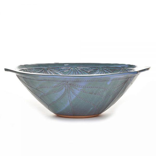 large serving bowl, potluck bowl, handmade ceramic salad bowl, doe ridge pottery, boone pottery