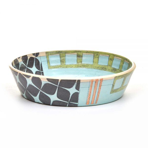contemporary ceramics, modern ceramics, asheville potter, shallow serving bowl, benyo pottery