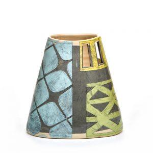 asymmetrical vase, asheville river arts district, benyo pottery, asheville ceramics, folk art center