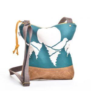 casual waxed canvas mountain bag, crossbody canvas bag