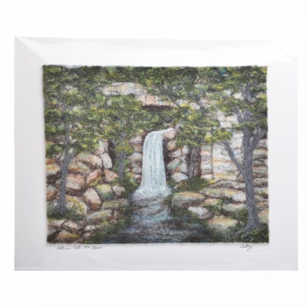 waterfall landscape done with colored felt