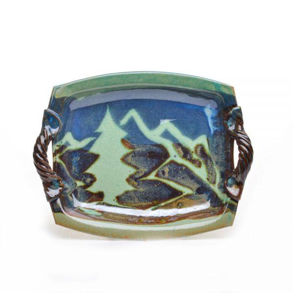 small ceramic mountain tray