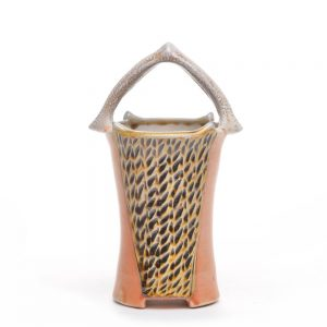 small soda fired basket vase